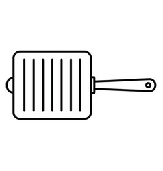 grill fry pan icon outline style vector image