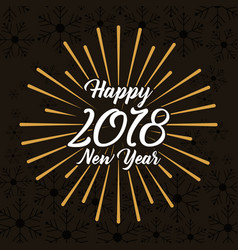 happy new year 2018 winter design with black vector image