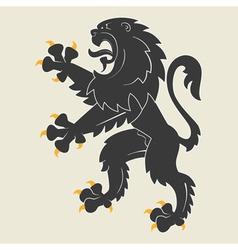 Heraldic lion34 vector image