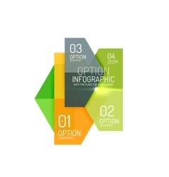 Hexagone infographic diagram templates vector image