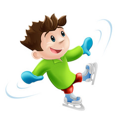 ice skating cartoon vector image