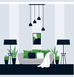 interior design a living room vector image
