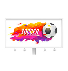 logo for soccer teams and tournaments vector image