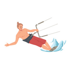 man surfing riding on water summer leisure vector image