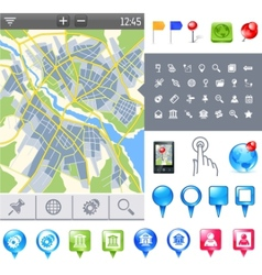 Map-icon-gps vector