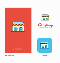 market company logo app icon and splash page vector image