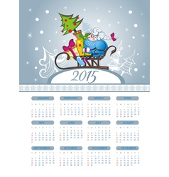 Merry Christmas with calendar vector image