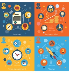 Modern web concepts set vector image