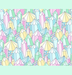Multicolor crystals pattern vector