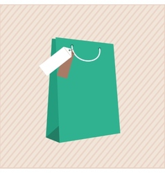 One classic shopping bag vector