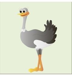Ostrich doodle cartoon vector image