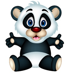 Panda cartoon sitting vector