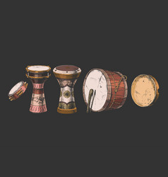 Percussion instrument near east vector