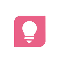 pink light bulb symbol design vector image