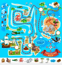 Pirate Treasure Map Labyrinth vector