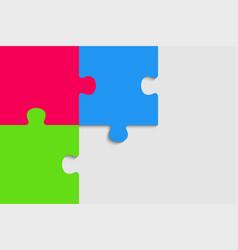 puzzle pieces infographic 3 steps puzzle pieces vector image