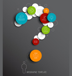 question mark - dark abstract circles infographic vector image