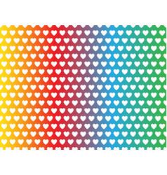 rainbow heart shape pattern vector image
