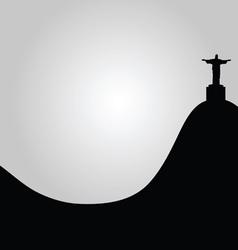 rio de janeiro view of Christ vector image