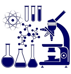 Science and chemistry icons set vector