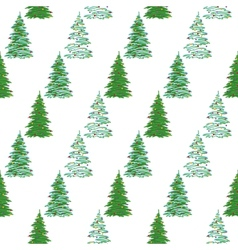 Seamless background Christmas trees vector image