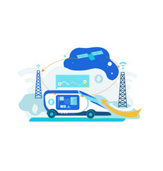 self driving car artificial intelligence vehicle vector image