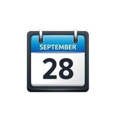 September 28 Calendar icon vector