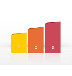 simplier three-column chart in pastel colors vector image
