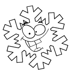 Snowflake cartoon vector image