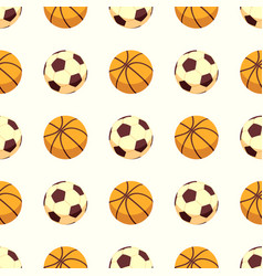 Sport seamless pattern - soccer or football and vector