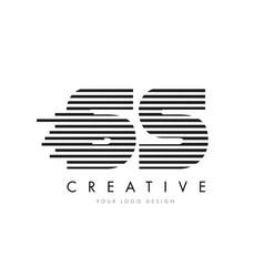 Ss s s zebra letter logo design with black vector