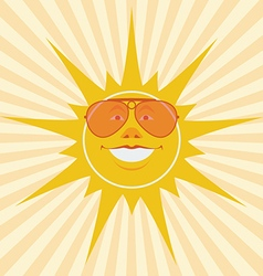 Sun laughing vector
