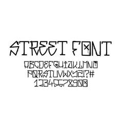 Tag graffiti font street tag alphabet vector