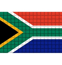 The mosaic flag of South Africa vector