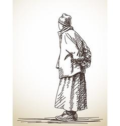 Tibetan man vector