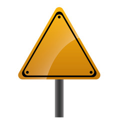 warning traffic sign icon vector image
