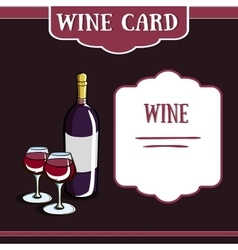 WIneCard51 vector image