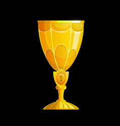winner golden cup interface icon trophy vector image