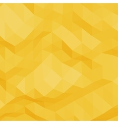 Yellow abstract triangular background vector