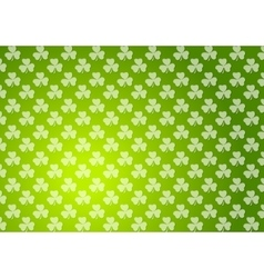 Clovers shamrocks green abstract texture vector image vector image