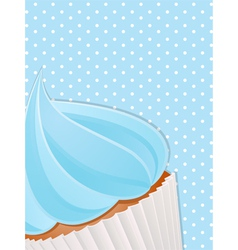 cupcake close up background4 vector image vector image