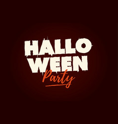 halloween party text logo vector image vector image