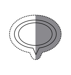 monochrome sticker of oval speech with tail vector image vector image