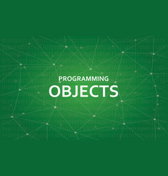 programming objects concept white vector image vector image