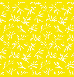 simplicity herbal background seamless pattern vector image vector image