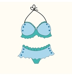 underwear swimsuit panties colored cartoon summer vector image