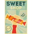 candy shop hand vector image