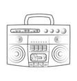 90s radio stereo vector image vector image