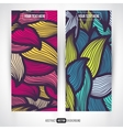 Abstract decorative banners set vector image vector image