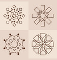 abstract symmetric geometric shapes symbols for vector image vector image
